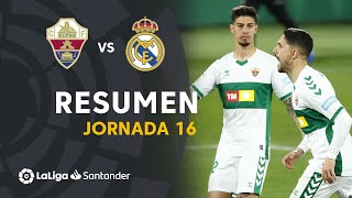 Resumen de Elche CF vs Real Madrid (1-1)