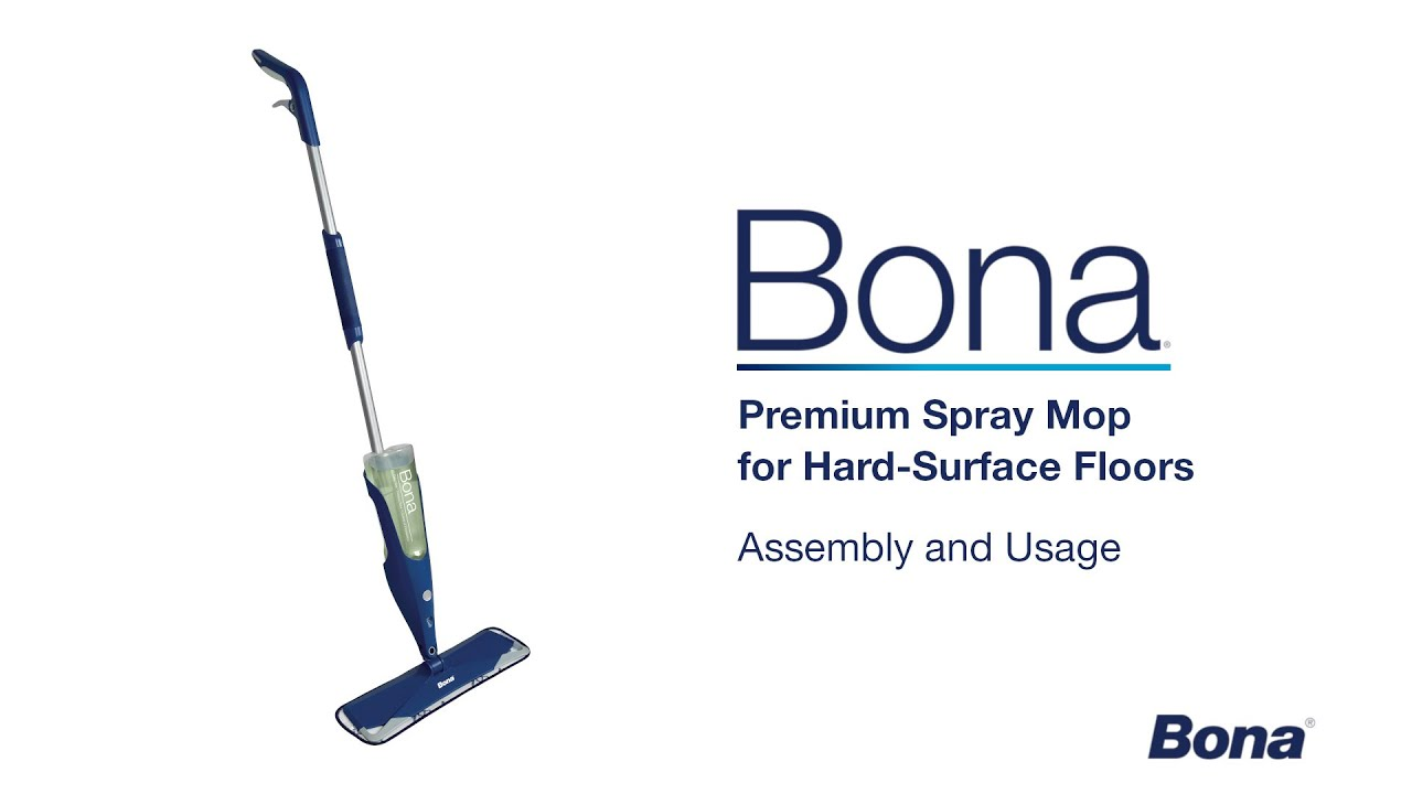 how to assemble and use the bona premium spray mop for stone tile and laminate floors