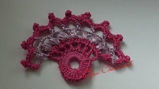 Ирландское кружево  цветок  веер.Irish lace flower