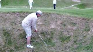 John Branning struggling on Hole 18 at Whistling Straits Golf Course!