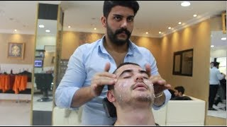 ASMR Turkish Barber Face,Head and Body Massage 106 (17 Mins)