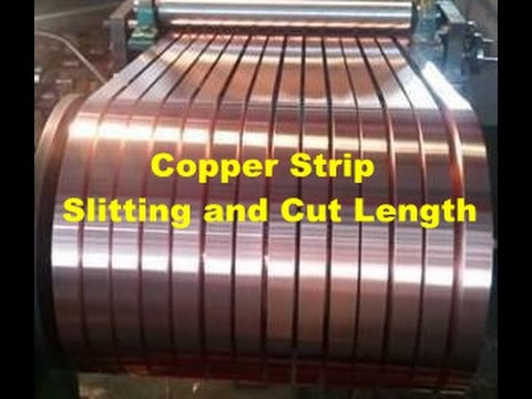 Copper Strip Slitting Machine And Cut Length Line Brass