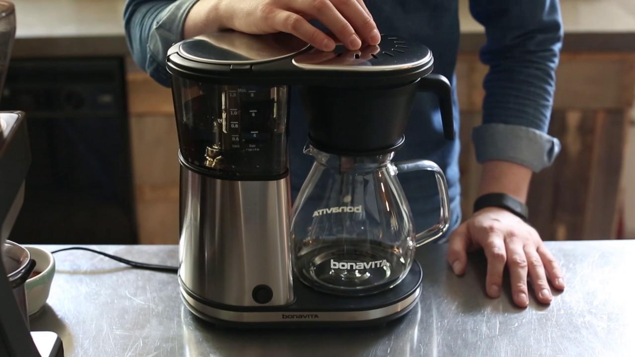 Bonavita Coffee Maker Not Hot : Bonavita 1901GW 8 Cup Coffee Maker with Hot Plate Overview - YouTube