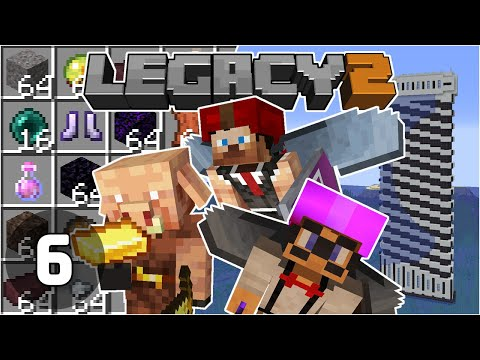 Piglin Bartering w/ Skizz & Base Begins! - Legacy SMP 2: #6 | Minecraft 1.16 Survival Multiplayer