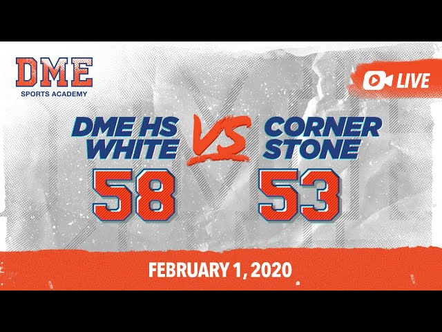 DME HS White vs Cornerstone