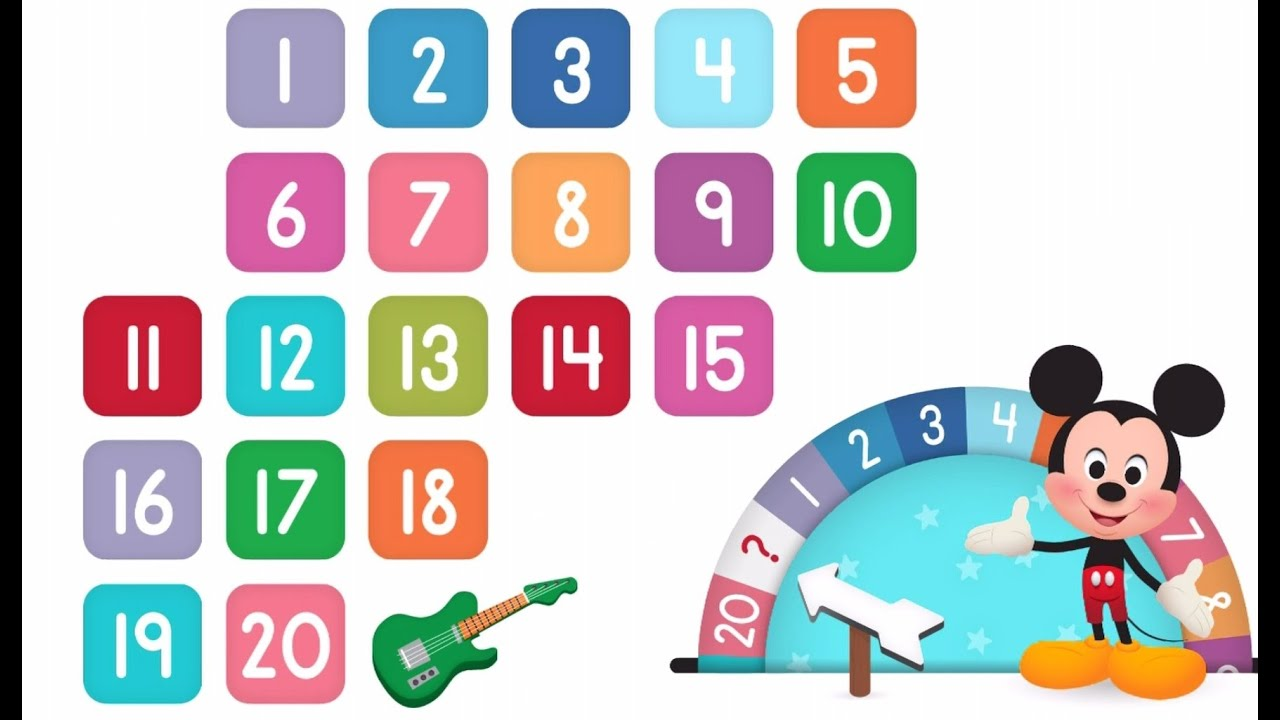 Learn Numbers Disney Buddies 123s Kids Counting Numbers 1 To 20 By