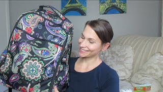 What's In My Diaper Bag / Backpack!? NEW Vera Bradly bag yessss!