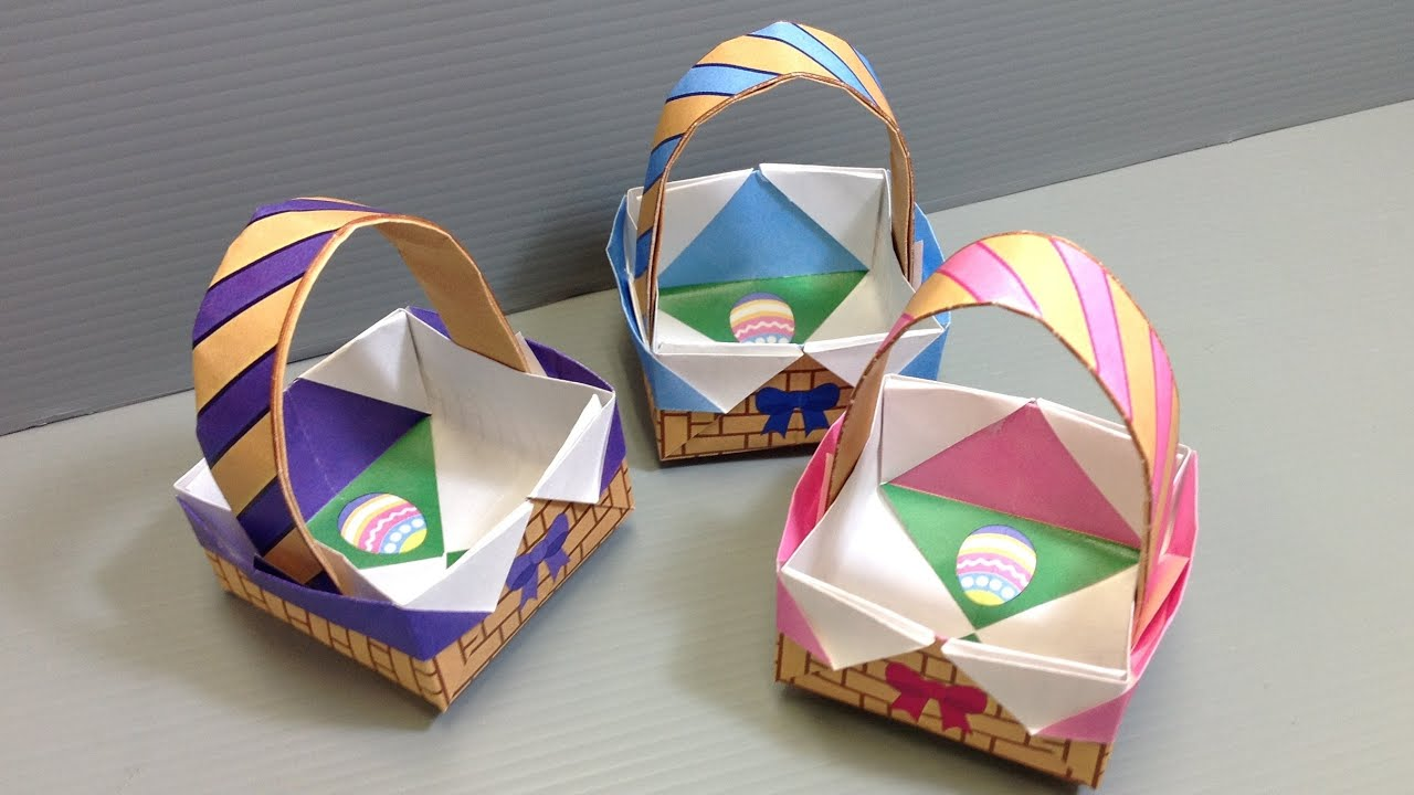 Spring Easter Baskets - Print at Home - YouTube - photo#30