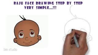 Chota Bheem - How to draw Raju from Chota Bheem