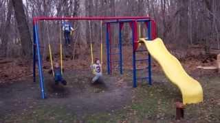 Kid's New Swingset
