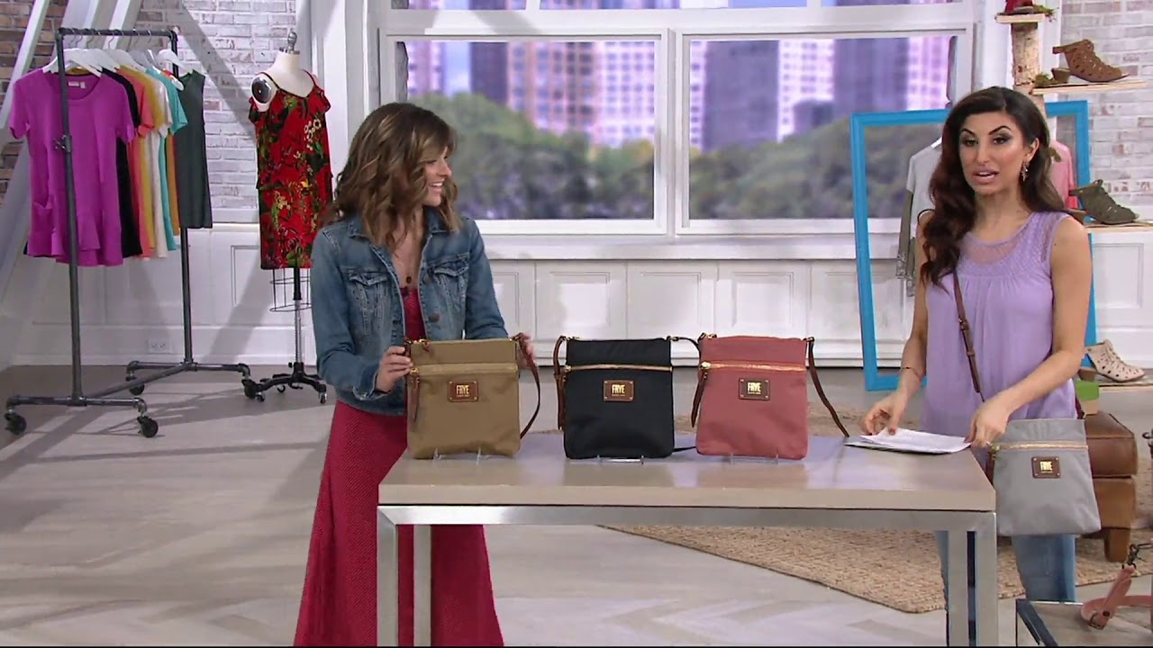 a41bf7c4d5 Frye Nylon Ivy Crossbody Bag on QVC - YouTube