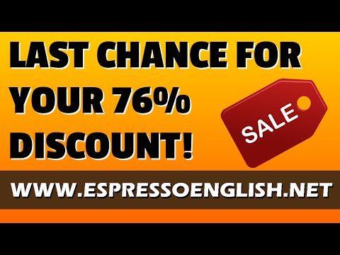 Last chance to get your 76% discount on the English Power Pack!