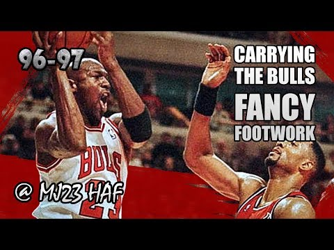 Michael Jordan Highlights vs Heat (1996.12.07) - 37pts, FANCY FOOTWORK!