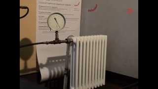 Zehnder Charleston.Тест на избыточное давление.(Прочностные испытания радиатора Zehnder Charleston в испытательной лаборатории ООО