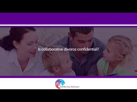 Is collaborative divorce confidential?