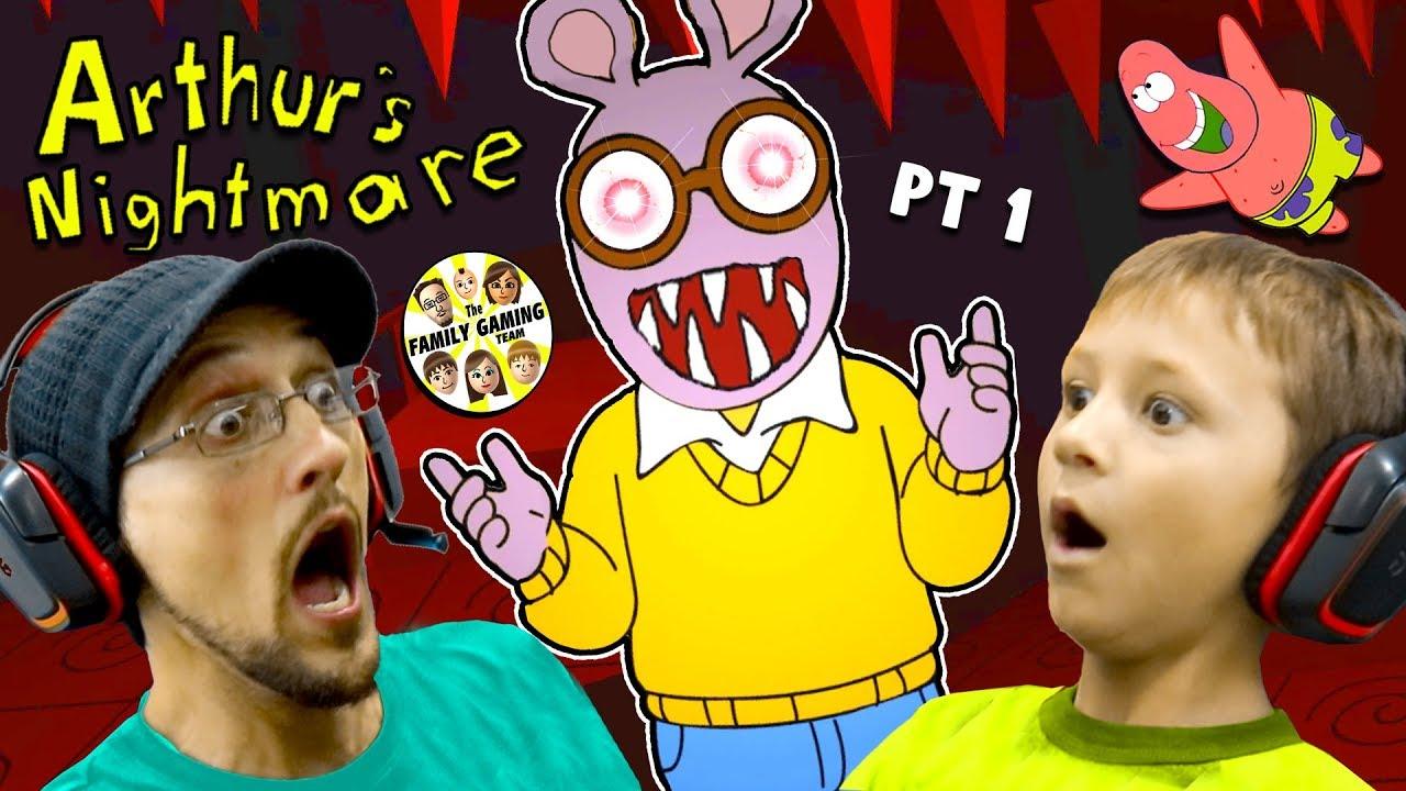ESCAPE the CRAZY CARTOON!  Night 1 & 2  (FGTEEV vs. Arthur the Aardvark #1)