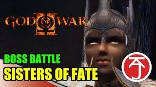 God Of War II - BOSS BATTLE: KRATOS VS SISTERS OF FATE