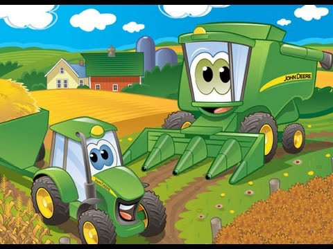 tractors cartoon for kids youtube rh youtube com john deere tractor cartoon images john deere cartoon tractor