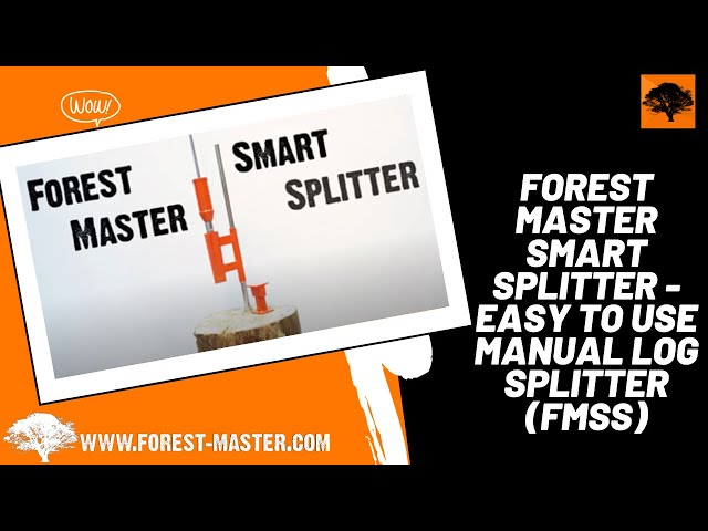 Forest Master Smart Splitter - Easy to use Manual Log Splitter (FMSS)