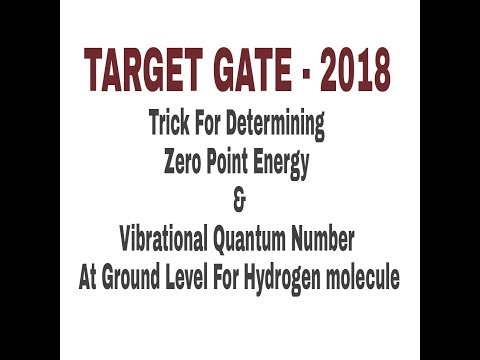 TARGET GATE - 2018 (Best Trick For Determining Zero Point Energy & Vibrational Quantum Number)