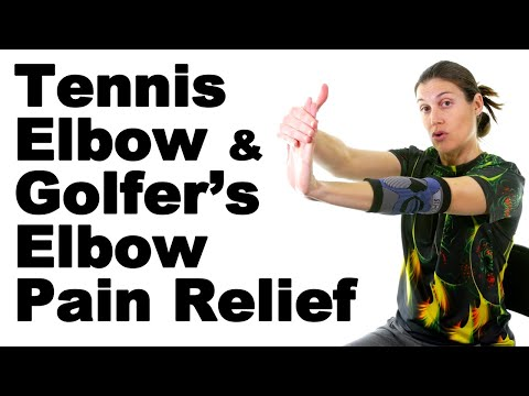 Relieve Tennis Elbow & Golfer's Elbow Pain Simien Elbow Compression Sleeve