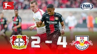 Bayer 04 Leverkusen - RB Leipzig [2-4] | GOLES | Jornada 28 | Bundesliga