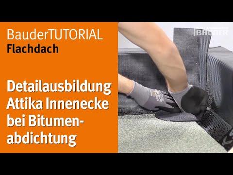 Bauder Verlegevideo Flachdach Detail Bitumen Innenecke