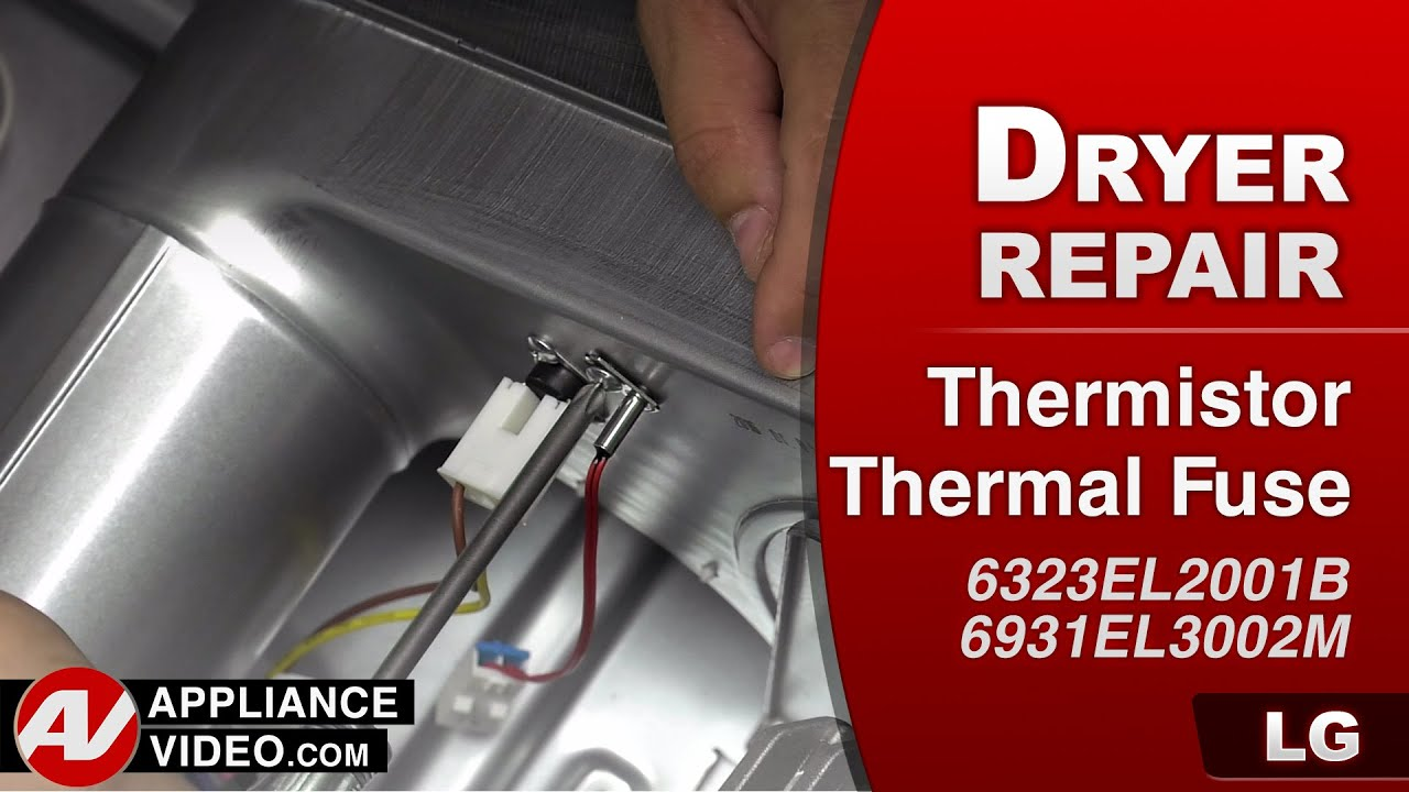 LG - Gas Dryer – TE1 Error Code – Thermistor repair