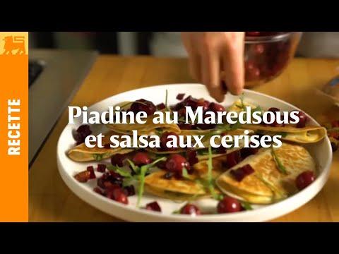 Piadine au Maredsous et salsa aux cerises
