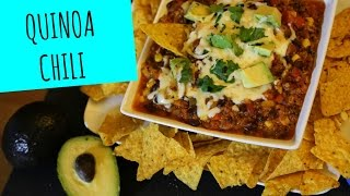 Quinoa Chili - Superbowl Appetizer - La Cooquette
