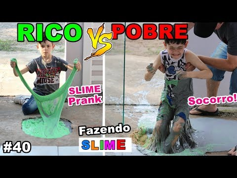 RICO VS POBRE FAZENDO AMOEBA / SLIME #40