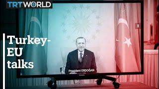 EU Commission Council chiefs meet with President Erdogan