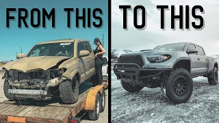 Salvaged Toyota Tacoma Bought On Copart Auto Auction