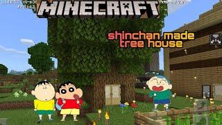 Shinchan made tree house | shinchan minecraft | shinchan bow masao | jagrit goswmai | by xyz gamxr