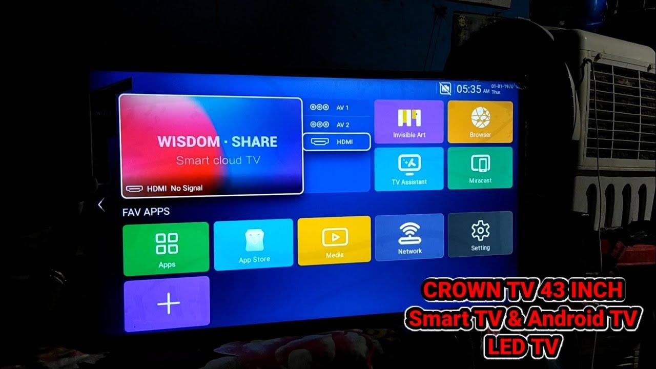 Download CROWN TV 43 INCH  Smart TV & Android TV  LED TV Full HD&4K&WiFi& MRS-21000-25000 ! Smart TV LED TV