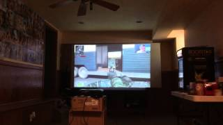 Video game projector