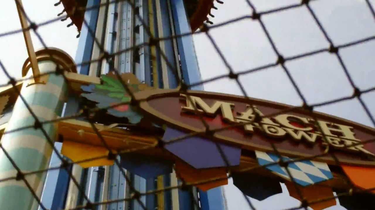 Mach Tower Drop/Crash @ Busch Garden VA. USA - YouTube