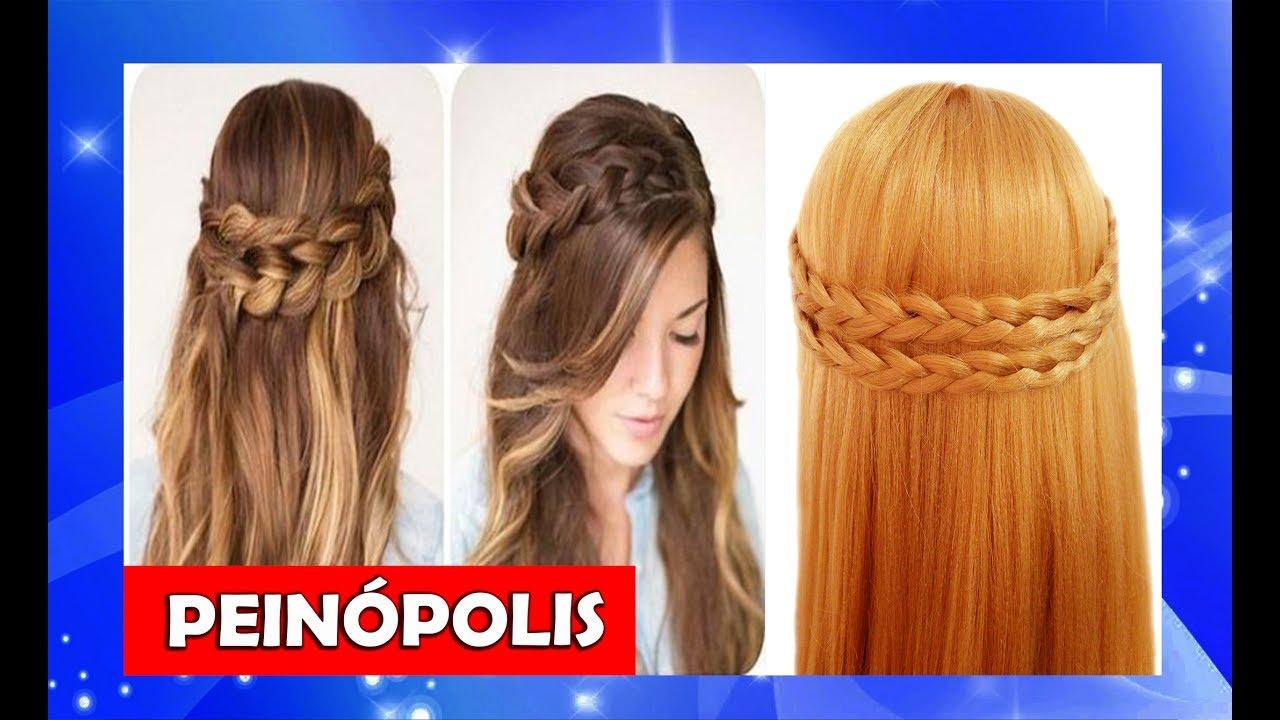 Peinados Semirecogidos Con Trenzas Para Cabello Largo Faciles Y Rapidos Youtube
