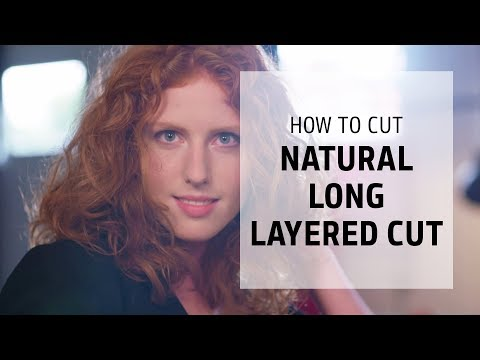Natural long layered haircut tutorial | How to Cut | Goldwell Education Plus