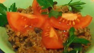 Рецепт для мультиварки - гречка с овощами и грибами