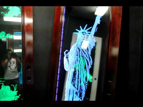 Custom, Etched Glass, L.E.D. Displays by Etch Houston pt2