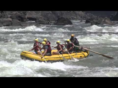 Whitewater rafting on Zambezi river with captains Chongo and Boyd