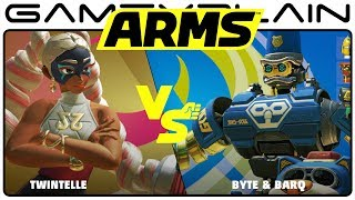 ARMS - Twintelle vs Byte & Bark Gameplay (Nintendo Switch)