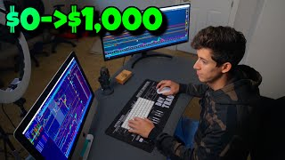 ✅$0 To $1,000 Profit Day In The Stock Market | Live Trading