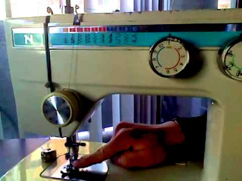 How to thread a Necchi model 535 FA sewing machine [now with captions]