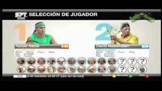 [XBOX 360] Virtua Tennis 2009 - presentacion y un juego entre Nadal y Ferrer