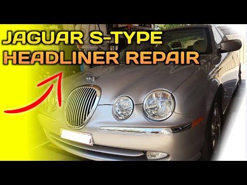 2001 Jaguar S Type Headliner Repair | Interior Roof Lining Sagging in the Car