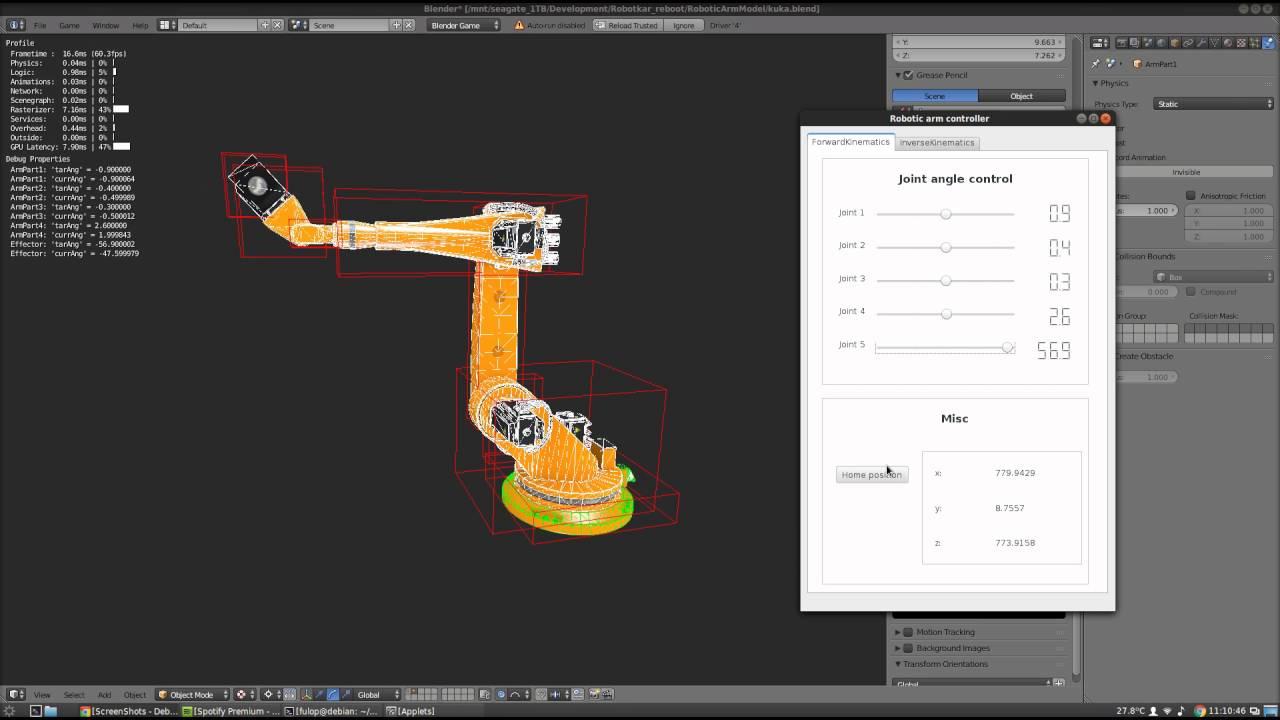 Robotic arm controller software final demo