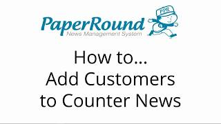 Counter News: How to add customers