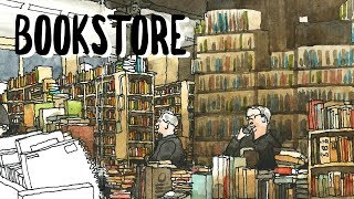 RAINY VANCOUVER AND BOOKSTORE - URBAN SKETCHING STORIES
